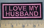 3741 L - I Love My Husband - Pink - Embroidery Patch