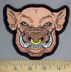 3751 N - Hog Head - Embroidery Patch