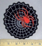 3753 N - Spider Web With Giant Spider - Embroidery Patch