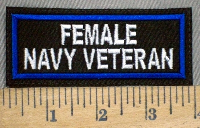 3783 L - Female Navy Veteran - Embroidery Patch