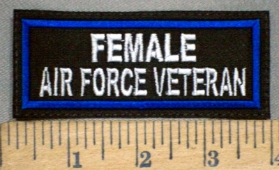 3784 L - Female Air Force Veteran - Embroidery Patch