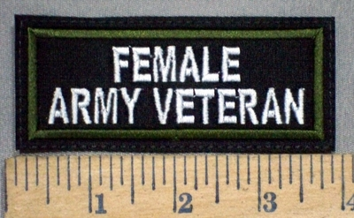 3785 L - Female Army Veteran - Embroidery Patch