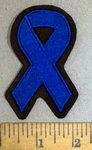 3788 L - Blue Cancer Ribbon - Colon Cancer - Embroidery Patch