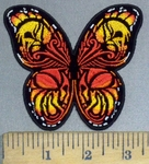 3789 G - Monarchy Butterfly With Skulls In Wings - Embroidery Patch