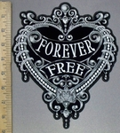 3803 G - Forever Free Within Decorated Heart - Back Patch - Embroidery Patch