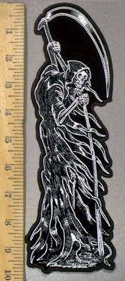 3820 G - Reaper With Large Scythe - Back Patch - Embroidery Patch
