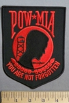3824 R - POW MIA You Are Not Forgotten - 6 Inch - Embroidery Patch