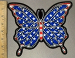 3825 G - Patriotic Butterfly - Back Patch - Embroidery Patch