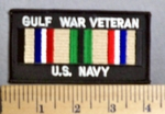 3826 S - Gulf War Veteran - US Navy - Embroidery Patch