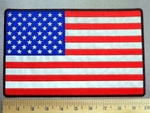 3828 CP - REFLECTIVE - American Flag -  Back Patch - Embroidery Patch
