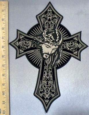 3835 CP - Celtic Cross With Face Of Jesus - Back Patch - Embroidery Patch