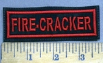 3935 L - Fire Cracker - Red - Embroidery Patch
