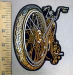 3838 G - Big Front Wheeled Motorcyle - Embroidery Patch