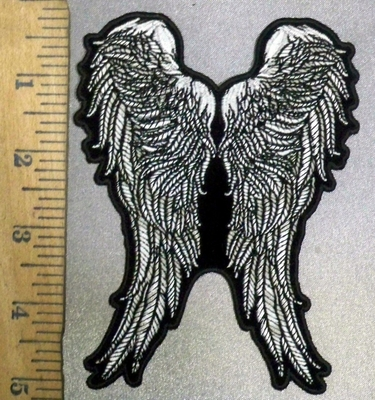 3841 G - Angel Feathered Wings - Embroidery Patch