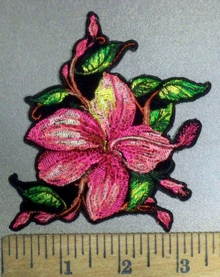 3856 G - Wild Pink Flower - Embroidery Patch