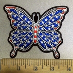 3857 G - Patriotic Butterfly - Embroidert Patch