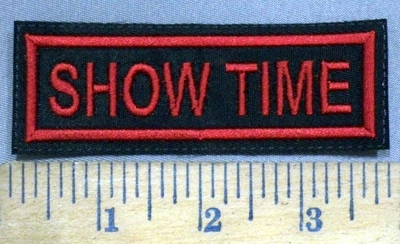 3873 L - Show Time - Red - Embroidery Patch