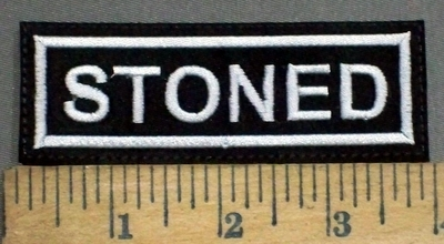 3875 L - Stoned - Embroidery Patch