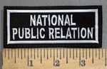 3884 L - National Public Relation - Embroidery Patch