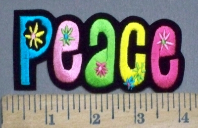3892 N - Peace With Little Flowers - Embroidery Patch