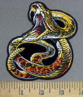 3896 G - Rattlesnake - Embroidery Patch