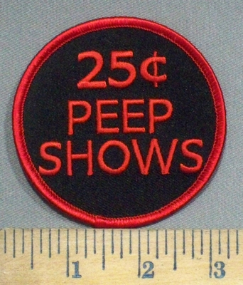 3899 G - 25 Cents Peep Show - Circle - Embroidery Patch