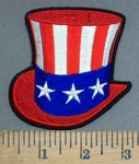 3900 G - Patriotic Flag Top Hat - Embroidery Patch