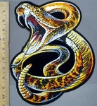 3905 G - DISCONTINUED Rattlesnake - Back Patch - Embroidery Patch