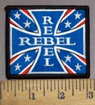 3921 N -  Confederate Rebel Chopper - Iron Cross Logo - Embroidery Patch