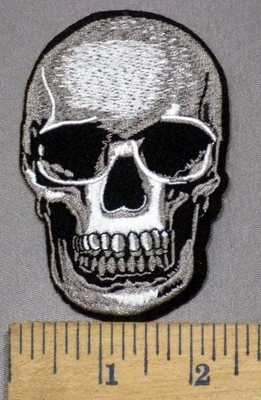 3930 C - Skullface - Embroidery Patch
