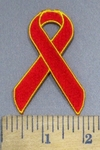 3933 N - Red Ribbon - Embroidery Patch