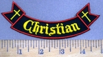 3943 W - Christian - Mini Bottom Rocker - Embroidery Patch