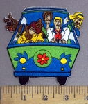 3958 C - Scooby Doo And Gang In Van - Embroidery Patch