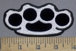 3960 L - Brass Knuckles - Embroidery Patch