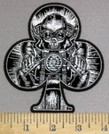 3966 G - DISCONTINUED  Club Shaped -  Speedster Biker On Motorcycle - Embroidery Patch