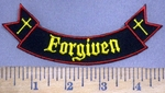 3968 W - Forgiven - Mini Bottom Rocker - Embroidery Patch