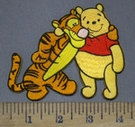 3971 C - Tigger And Winnie The Pooh Cartoon Character - Embroidery Patch