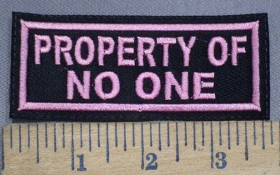 3984 L - Property Of One - Pink - Embroidery Patch