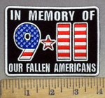 3997 G -9-11 -  In Memory Of Our Fallen Americans - Embroidery Patch