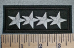 2657 L - 4 Stars - Embroidery Patch