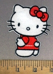 4009 C - Hello Kitty #1 - Red Bow - Embroidery Patch