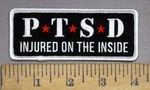 4011 G - P.T.S.D. - Injured On The Inside - Embroidery Patch