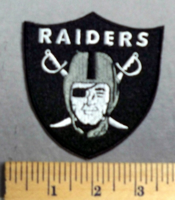 4022 C - Raiders Football Logo- Embroidery Patch
