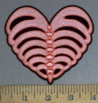 4031 G - Rib Cage Heart - Embroidery Patch