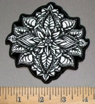 4041 G - Decorative Henna Flower- Embroidery Patch
