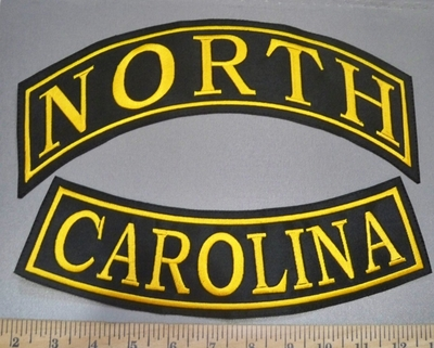 4042 L - Custom Set Of State Bottom And Top Rocker - Any City And State Available - Embroidery Patch