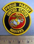 4050 S - Proud Parent - United States Marines -  Embroidery Patch