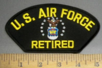 4056 R - U.S. Air Force - Retired -  With logo - Embroidery Patch