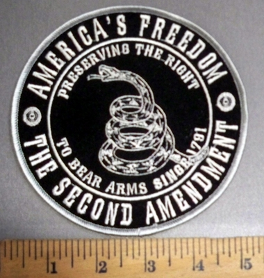 4057 R - America's Freedom -2nd Amendment - Round - Embroidery Patch