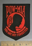 4058 R - POW MIA - You Are Not Forgotten -Red -  6 Inch - Embroidery Patch
